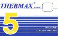 英国THERMAX 5格感温贴纸|温度纸