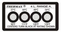 英国THERMAX 4格热敏贴纸|温度纸